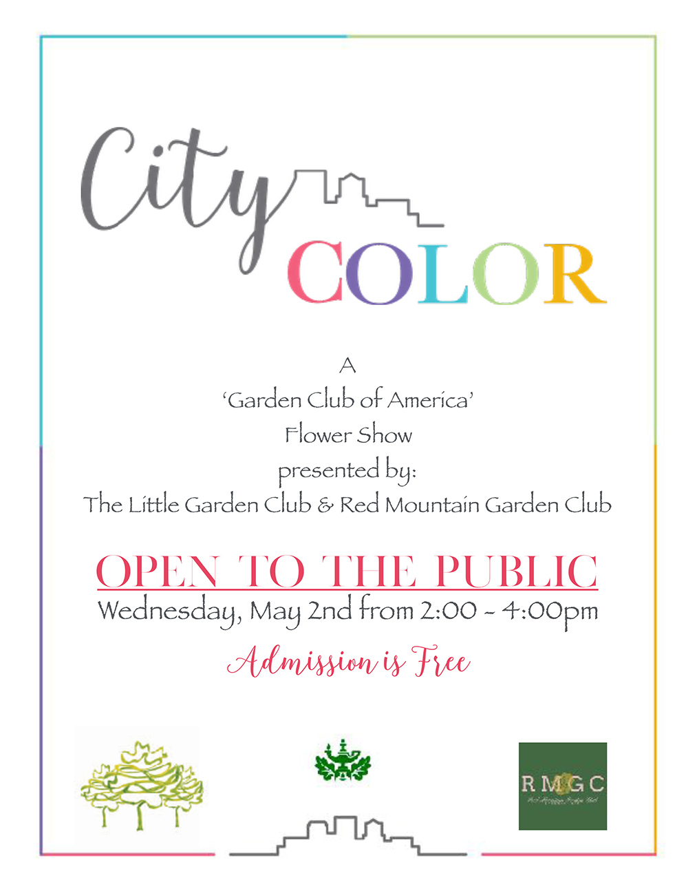 City Color Flower Show 2018 - open to the public